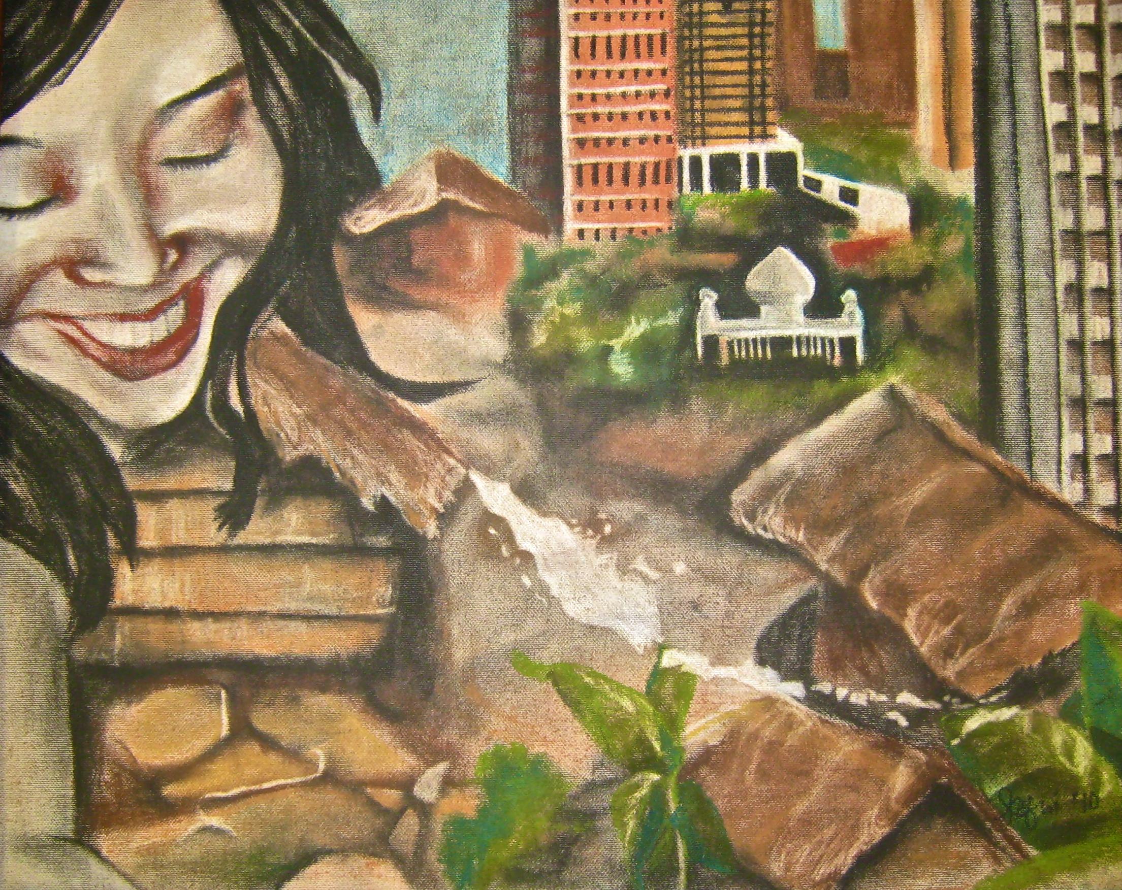 Jacarta - painting by Amy Mfuni